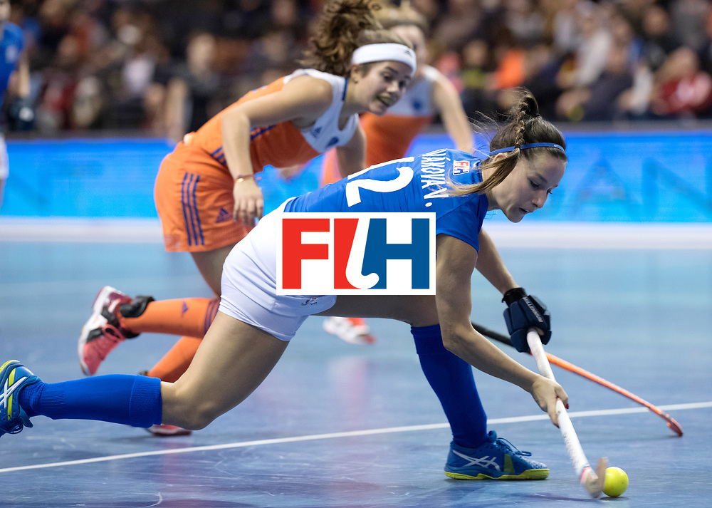 BERLIN - Indoor Hockey World Cup<br /> Quarterfinal 4: Netherlands - Czech Republic<br /> foto: NOVAKOVA Veronika.<br /> WORLDSPORTPICS COPYRIGHT FRANK UIJLENBROEK