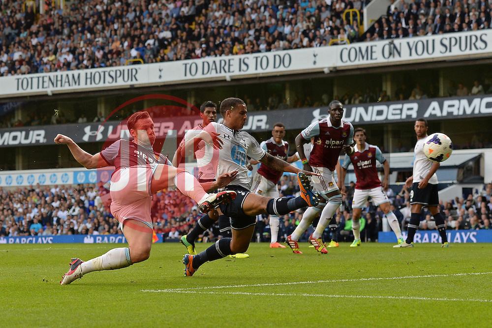 West Ham United's Kevin Nolan takes a shot at goal - Photo mandatory by-line: Mitchell Gunn/JMP - Tel: Mobile: 07966 386802 06/10/2013 - SPORT - FOOTBALL - White Hart Lane - London - Tottenham Hotspur V West Ham United - Barclays Premiership