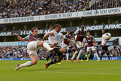 West Ham United's Kevin Nolan takes a shot at goal - Photo mandatory by-line: Mitchell Gunn/JMP - Tel: Mobile: 07966 386802 06/10/2013 - SPORT - FOOTBALL - White Hart Lane - London - Tottenham Hotspur V West Ham United - Barclays Premiership