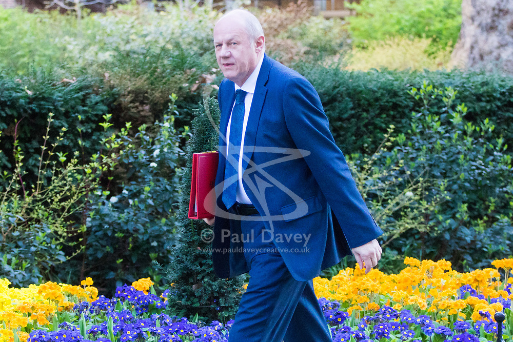 Downing Street, London, March 21st 2017. Work and Pensions Secretary Damian Green attends the weekly cabinet meeting at 10 Downing Street.