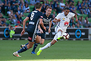 MELBOURNE, VIC - JANUARY 20: Wellington Phoenix forward David Williams (11) competes for the ball during the Hyundai A-League Round 14 soccer match between Melbourne Victory and Wellington Phoenix at AAMI Park in VIC, Australia on 20th January 2019. Image by (Speed Media/Icon Sportswire)