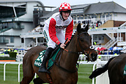 Starkie and Martin McIntyre head to the start for the 4.05PM The Randox Health Foxhunters' Steeple Chase (Class 2) 2m 5f during the Grand National Festival Week at Aintree, Liverpool, United Kingdom on 4 April 2019.