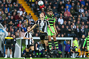 Forest Green Rovers Omar Bugiel(11) and Notts County Ryan Yates(22) challange for the ball during the EFL Sky Bet League 2 match between Notts County and Forest Green Rovers at Meadow Lane, Nottingham, England on 7 October 2017. Photo by Shane Healey.