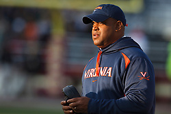 November 20, 2010; Chestnut Hill, MA, USA;  Virginia Cavaliers head coach Mike London on the sidelines against the Boston College Eagles during the fourth quarter at Alumni Stadium.  Boston College defeated Virginia 17-13.