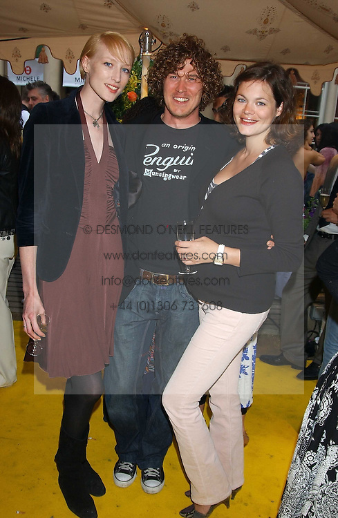 Left to right, Model JADE PARFITT, TOBY BURGESS and JASMINE GUINNESS at Michele Watches Kaleidoscope Summer Garden Party held at Home House, Portman Square, London on 15th June 2005.<br /><br />NON EXCLUSIVE - WORLD RIGHTS
