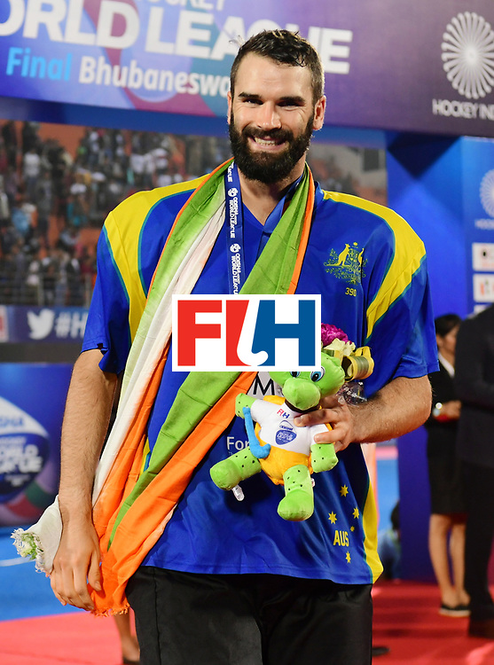Odisha Men's Hockey World League Final Bhubaneswar 2017<br /> Match id:<br /> Ceremony<br /> Foto: keeper Tristan Clemons (Aus) <br /> COPYRIGHT WORLDSPORTPICS FRANK UIJLENBROEK