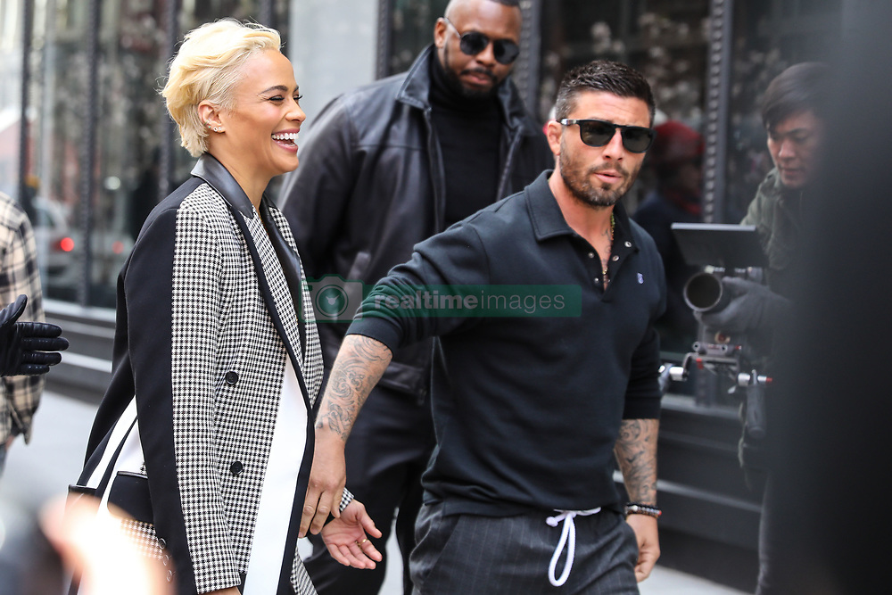 April 18, 2018 - New York, NEW YORK, UNITED STATES - Actress Paula Patton is seen arriving at Aol Live in Soho on April 18, 2018 in New York City. (Credit Image: © William Volcov via ZUMA Wire)