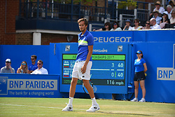 June 23, 2017 - London, United Kingdom - Daniil Medvedev of Russia plays the quarter finals of AEGON Championships at Queen's Club, London, on June 23, 2017. (Credit Image: © Alberto Pezzali/NurPhoto via ZUMA Press)