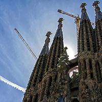 Templo Expiatorio de la Sagrada Familia en Barcelona. Sagrada Familia in Barcelona.