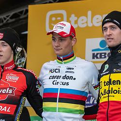 2018-11-24: Cycling: CX Worldcup: Koksijde: Mathieu van der Poel wins ahead of Laurens Sweek and Toon Aerts
