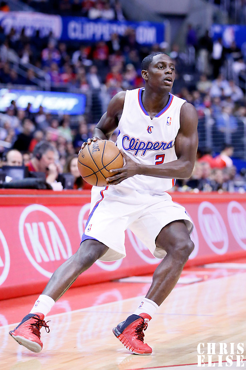06 January 2014: Los Angeles Clippers point guard Darren Collison (2) looks to pass the ball during the Los Angeles Clippers 101-81 victory over the Orlando Magic at the Staples Center, Los Angeles, California, USA.