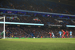 Bobby Reid of Bristol City scores a penalty  - Mandatory by-line: Matt McNulty/JMP - 09/01/2018 - FOOTBALL - Etihad Stadium - Manchester, England - Manchester City v Bristol City - Carabao Cup Semi-Final First Leg
