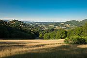 Landschaft mit Burg Lindenfels, Lindenfels, Odenwald, Hessen, Deutschland   Landscape with Burg Lindenfels, Lindenfels, Odenwald, Hesse, Germany