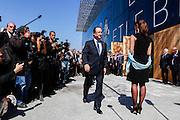 President Francois Hollande during the opening  ceremony of the Mucem (Musée des civilisations de l'Europe et de la Méditerranée) in Marseille, France on June 4, 2013