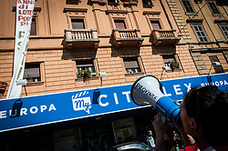 March 23, 2019 - Rome, Italy, Italy - Garrison at Porta Pia in front of the Ministry of Infrastructure and Transport, called by the movement for the right to live, The garrison then moved to Piazza della Repubblica, in the direction of the concentration of the great march for the climate and against large unnecessary works. (Credit Image: © Andrea Ronchini/Pacific Press via ZUMA Wire)