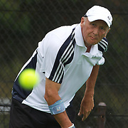 Keith Bland, Great Britain, in action in the 60 Mens Singles  during the 2009 ITF Super-Seniors World Team and Individual Championships at Perth, Western Australia, between 2-15th November, 2009.