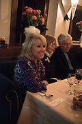 ELAINE PAIGE, Nicky Haslam hosts dinner at  Gigi's for Leslie Caron. 22 Woodstock St. London. W1C 2AR. 25 March 2015