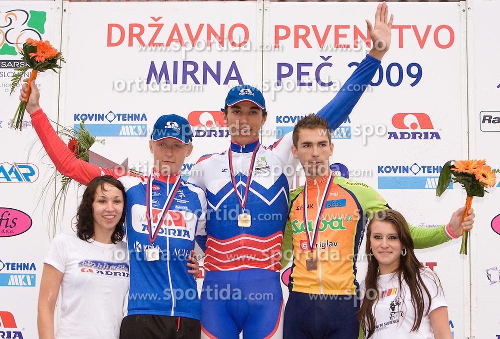 Marko Kump, Blaz Jarc and Blaz Furdi at Slovenian National Championships in Road cycling, 178 km, on June 28 2009, in Mirna Pec, Slovenia. (Photo by Vid Ponikvar / Sportida)