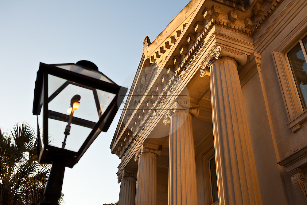 Historic bank building on Broad Street in Charleston, SC.