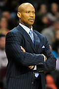April 5, 2011; Cleveland, OH, USA; Cleveland Cavaliers head coach Byron Scott watches from the sidelines during the third quarter against the Charlotte Bobcats at Quicken Loans Arena. The Cavaliers beat the Bobcats 99-89. Mandatory Credit: Jason Miller-US PRESSWIRE