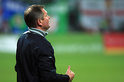 Head coach of Slovenia Matjaz Kek at the fourth round qualification game of 2010 FIFA WORLD CUP SOUTH AFRICA in Group 3 between Slovenia and Northern Ireland at Stadion Ljudski vrt, on October 11, 2008, in Maribor, Slovenia.  (Photo by Vid Ponikvar / Sportal Images)