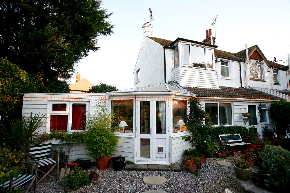 JAMES BOARDMAN / 07967642437<br /> General View of Richard and Jo King's cottage and extension [Left]. Richard and Jo have had an extension put onto there cottage in Broadstairs in Kent and rent out the rooms to foreign students.