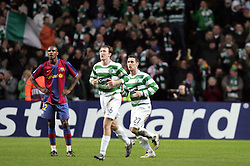 A dejected Eric Abidal of Barcelona. Celtic v Barcelona, Uefa Champions League, Knockout phase, Celtic Park, Glasgow, Scotland. 20th February 2008.