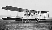 First plane to fly the Atlantic non-stop. The Vickers-Vimy-Rolls machine flown by British aviators John Alcock (pilot) and James Brown (navigator), on 14/15 June 1919