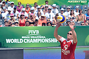 Cezary Pazura while exhibition match of Special Olympics Poland during Day 7 of the FIVB World Championships on July 7, 2013 in Stare Jablonki, Poland. <br /> <br /> Poland, Stare Jablonki, July 07, 2013<br /> <br /> Picture also available in RAW (NEF) or TIFF format on special request.<br /> <br /> For editorial use only. Any commercial or promotional use requires permission.<br /> <br /> Mandatory credit:<br /> Photo by &copy; Adam Nurkiewicz / Mediasport