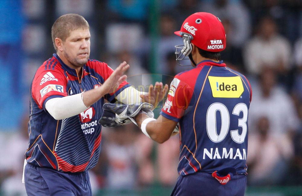 Delhi Daredevils player James Hopes during match 19 of the Indian Premier League ( IPL ) Season 4 between the Delhi Daredevils and the Deccan Chargers held at the Feroz Shah Kotla Stadium in Delhi, India on the 19th April 2011..Photo by Pankaj Nangia/BCCI/SPORTZPICS.