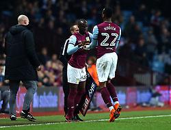 Albert Adomah of Aston Villa replaces Jonathan Kodjia of Aston Villa - Mandatory by-line: Robbie Stephenson/JMP - 13/04/2018 - FOOTBALL - Villa Park - Birmingham, England - Aston Villa v Leeds United - Sky Bet Championship