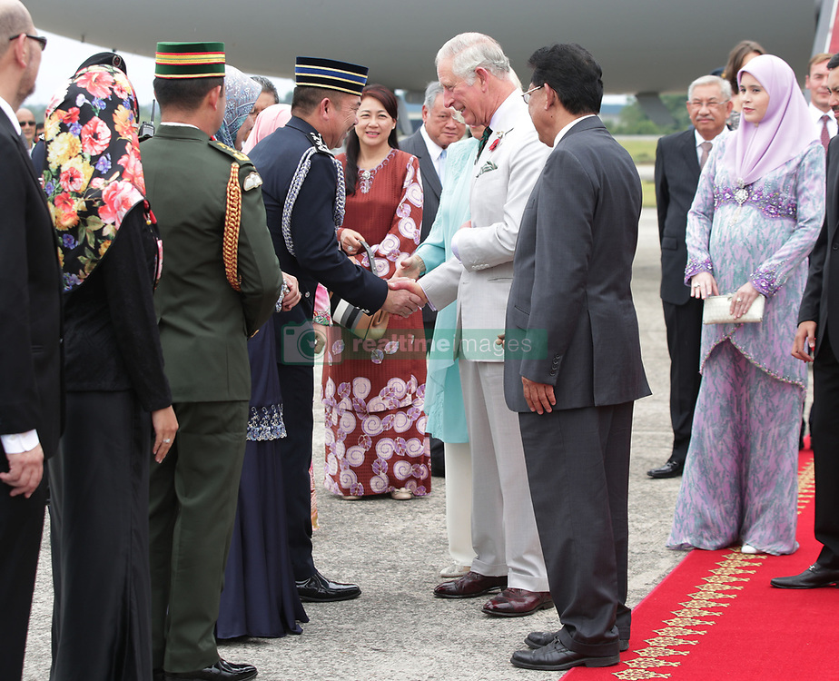 The Prince of Wales and the Duchess of Cornwall receive a Royal welcome upon their arrival in Brunei during an 11-day autumn tour of Asia.