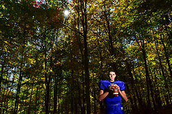 Monticello Panthers quarterback Kyle McCreery is photographed in Jeffersonville, NY .