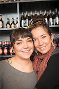 Kim Webster and her dauther Sydney at Kenny & Zukes in Portland, Oregon