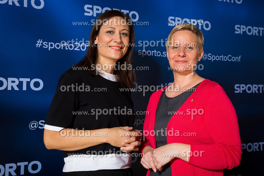 Tina Cipot and Katja Steblaj Krasko during Sports marketing and sponsorship conference Sporto 2016, on November 18, 2016 in Hotel Slovenija, Congress centre, Portoroz / Portorose, Slovenia. Photo by Vid Ponikvar / Sportida