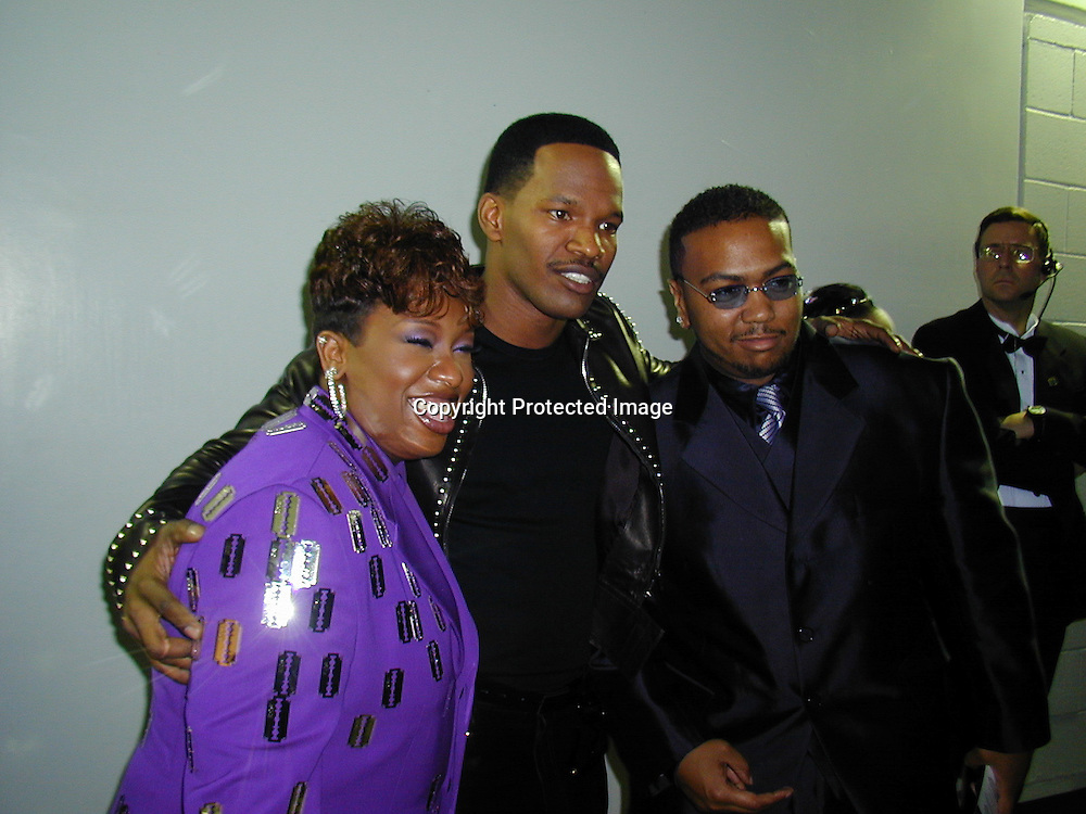 Missy , Jamie foxx &amp; Timberlake<br />*****EXCLUSIVE*****<br />42nd Annual Grammy Awards Backstage<br />Staples Center<br />Los Angeles, CA, USA<br />Wednesday, February 23, 2000<br />Photo By Celebrityvibe.com/Photovibe.com
