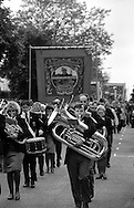 Frickley Branch banner. 1994 Yorkshire Miners Gala. Doncaster.