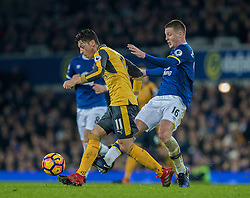 LIVERPOOL, ENGLAND - Tuesday, December 13, 2016: Everton's James McCarthy in action against Arsenal's Mesut Özil during the FA Premier League match at Goodison Park. (Pic by Gavin Trafford/Propaganda)