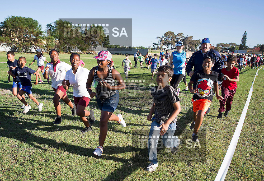CAPE TOWN, SOUTH AFRICA, Saturday 2 March 2013, the Old Mutual Two Oceans Marathon fun run held at the Rondebosch East Primary School..Photo by ImageSA.