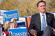 06 DECEMBER 2011 - PARADISE VALLEY, AZ: Mitt Romney sits for an interview with FOX News Tuesday.  Former Vice President Dan Quayle endorsed Republic Presidential hopeful Mitt Romney at the Hermosa Inn in Paradise Valley Tuesday.    PHOTO BY JACK KURTZ
