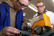 Instructor Ian Hughes & apprentice Lee Brunt. Sheffield Engineering Centre...© Martin Jenkinson, tel 0114 258 6808 mobile 07831 189363 email martin@pressphotos.co.uk. Copyright Designs & Patents Act 1988, moral rights asserted credit required. No part of this photo to be stored, reproduced, manipulated or transmitted to third parties by any means without prior written permission