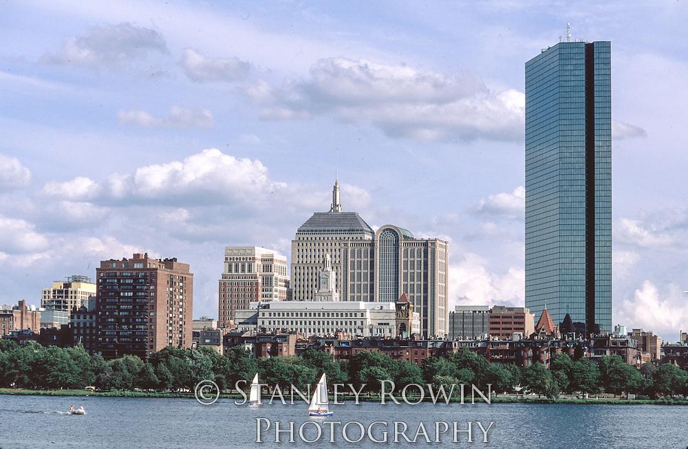 Back Bay, Boston, Panorama, Charles River