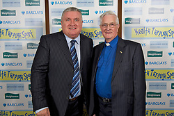 LIVERPOOL, ENGLAND - Friday, November 26, 2010: Ronnie Goodlass and Everton FC chaplain chaplain Harry Ross during a Health Through Sport Charity Dinner at the Devonshire House. (Photo by David Rawcliffe/Propaganda)