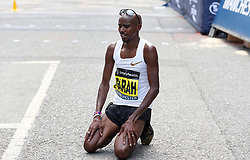 Great Britain's Mo Farah after winning the Simplyhealth Great Manchester Elite Men 10k run through Manchester.