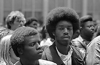 Black Panther Rally in San Francisco California in 1969
