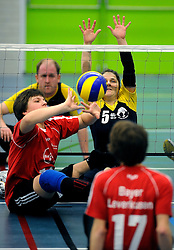08-01-2011 VOLLEYBAL: ED ROOSEN ZITVOLLEYBALTOERNOOI 2011: LEERSUM<br /> Voller volleyball club organizes for the ninth consecutive time the Ed Roosen sitting volleyball tournament / London England vs Bayern Germany<br /> ©2011-WWW.FOTOHOOGENDOORN.NL