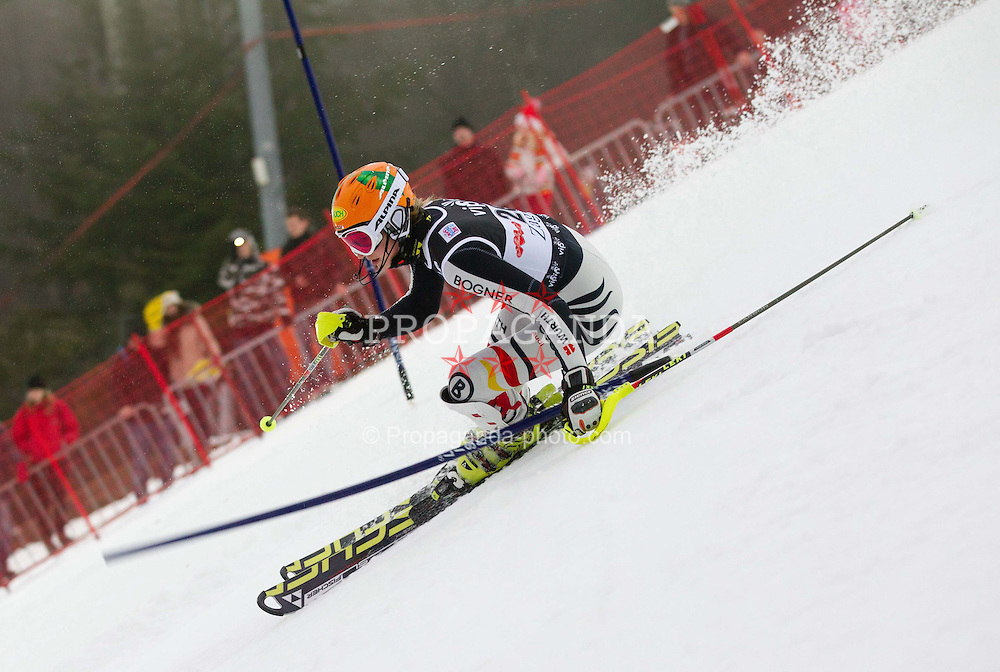 03.01.2012, Crveni Spust, Sljeme, CRO, FIS Weltcup Ski Alpin, Zagreb, Damen Slalom 2. Durchgang, im Bild DUERR Lena (GER) // during Slalom race 2nd run of FIS Ski Alpine World Cup at 'Crveni Spust' course in Sljeme, Zagreb, Croatia on 2012/01/03. EXPA Pictures © 2012, PhotoCredit: EXPA/ Sportida/ Vid Ponikvar..***** ATTENTION - OUT OF SLO *****