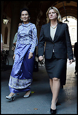 OCT 23 2013 Aung San Suu Kyi with Justine Greening