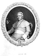 Pius IX (Giovanni Maria Mastai Ferretti - 1792-1878) Pope from 1846. Engraving after a photograph.