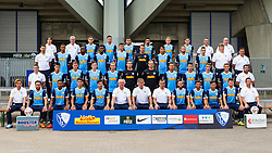 07.07.2015, Rewirpower Stadion, Bochum, GER, 2. FBL, VfL Bochum, Fototermin, im Bild Vordere Reihe: v.l. Techniktrainer Dariusz Wosz, Tobias Weis, Michael Maria, Goerkem Saglam, Stefano Celozzi, Co-Trainer Raymond Libregts, Cheftrainer Gertjan Verbeek, Co-Trainer Thomas Reis, Selem Guenduez, Marco Terrazzino, Roman Zengin, Piotr Cwielong, Co-Trainer Christian Britscho<br /> 2. Reihe v.l.: Fitness- und Reha-Trainer Stefan Bieniossek, Cagatay Kader, Simon Terodde, Michael Gregoritsch, Felix Bastians, Andreas Luthe, Felix Dornebusch, Patrick Fabian, Anthony Losilla, Janik Haberer, Frederik Lach, Torwarttrainer Peter Greiber<br /> 3. Reihe v.l. Athletiktrainer Joern Menger, Malcolm Cacutalua, Nando Rafael, Giliano Wijnaldum, Jan Simunek, Manuel Riemann, Evangelos Pavlidis, Timo Perthel, Julian Stock, Physiotherapeut Juergen Dolls, Vereinsarzt Priv.-Doz. Dr. Karl-Heinz Bauer<br /> 4. Reihe v.l.: Physiotherapeut Sascha Zivanovic, Physiotherapeut Frank Zoellner, David Niepsuj, Tim Hoogland, Goekhan Guel, Onur Bulut, Henrik Gulden, Tom Baack, Zeugwart Andreas Pahl, Zeugwart Benedikt Dresselhaus // during the official Team and Portrait Photoshoot of German 2nd Bundesliga Club VfL Bochum at the Rewirpower Stadion in Bochum, Germany on 2015/07/07. EXPA Pictures © 2015, PhotoCredit: EXPA/ Eibner-Pressefoto/ Hommes<br /> <br /> *****ATTENTION - OUT of GER*****